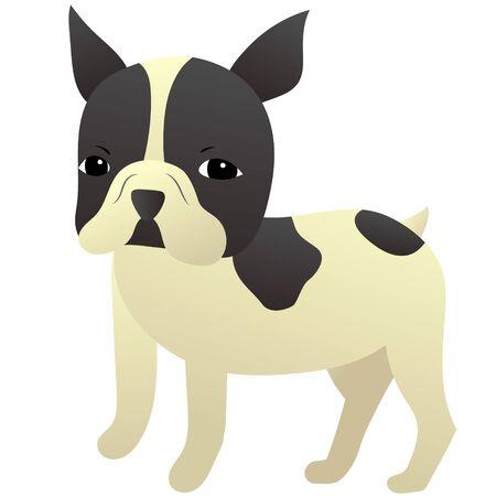 Illustration of cute french bulldog Archivio Fotografico - 133657683