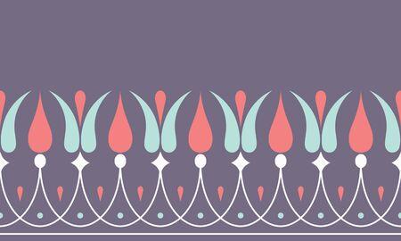 Seamless palmetto pattern background illustration