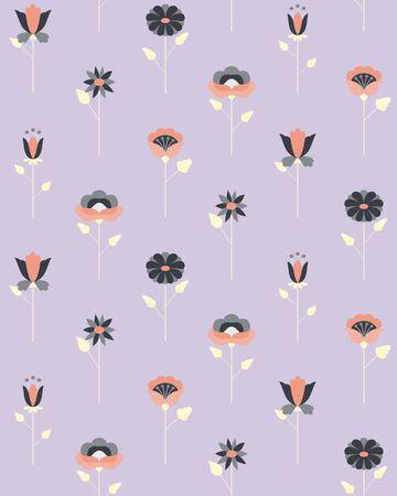 Scandinavian design flower pattern material