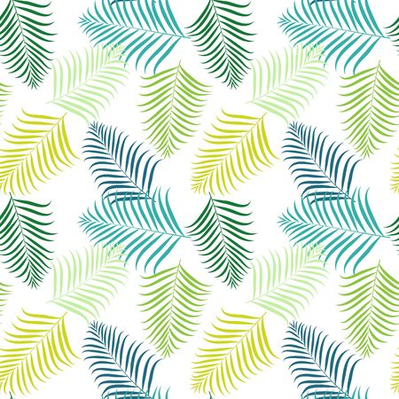 Tropical Seams Pattern Illustration Material (areca palm)