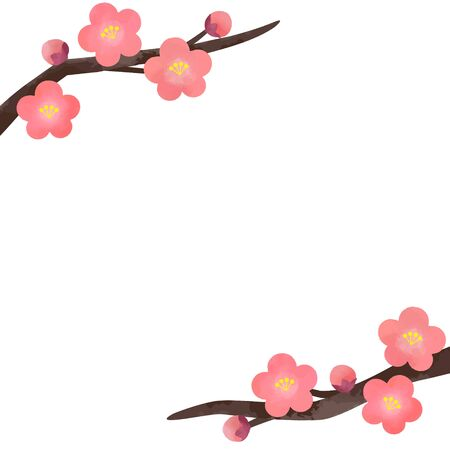 Plum Blossom Vector Illustration (background material)