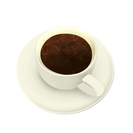 Illustration of coffee (white background, vector, cut out) Ilustração