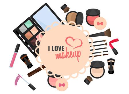 I love makeup vector