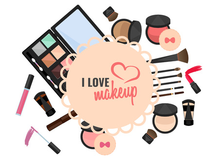 I love makeup vector