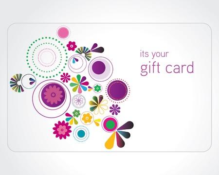 Kleurrijke gift card