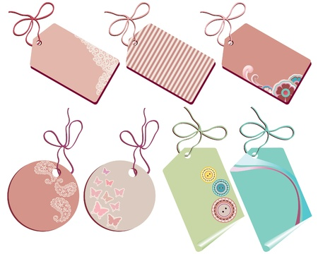 Cute tags collection  Vector