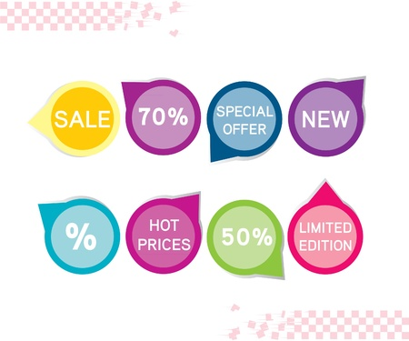 Sale tag stickers