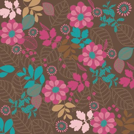 Vintage floral achtergrond  Stock Illustratie