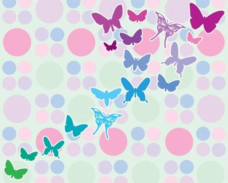 Achtergrond met vlinder