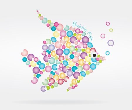 Bubble vis Stock Illustratie
