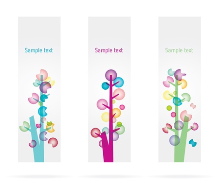 Colorful trees Vector