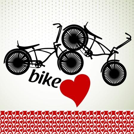Love bike Illustration