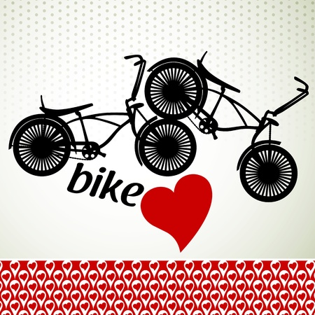nostalgic: Love bike Illustration