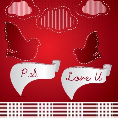 Love you Stock Vector - 14565775