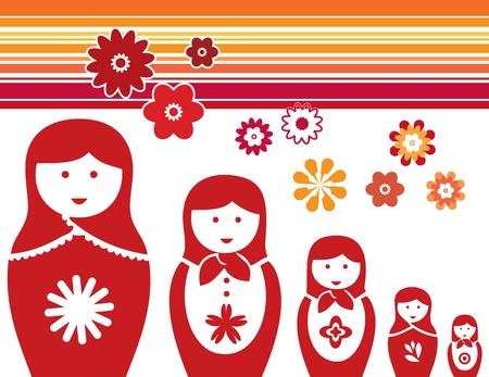 matrioska: Traditional Babushka dolls