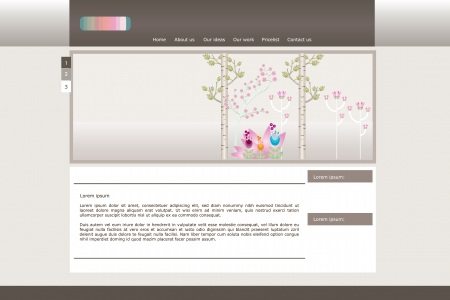 Web site beauty vector design