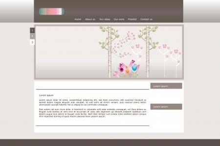 Website schoonheid vector ontwerp Stock Illustratie