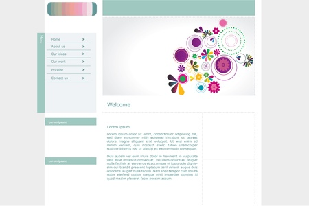 Web site vector design Illustration