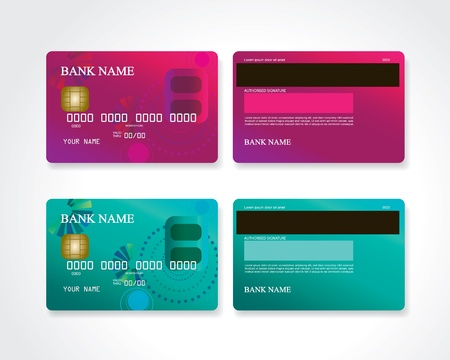 Credit card with design
