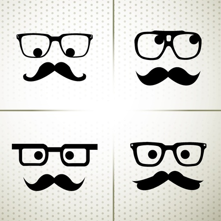 eyeglasses: Man With Mustache Illustration