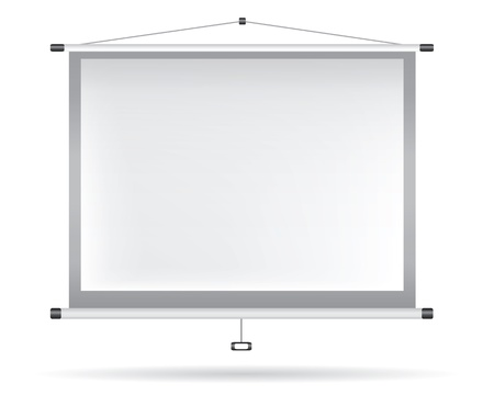 White video projector on white wall
