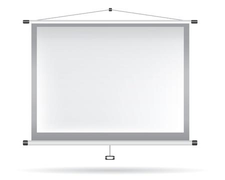 Wit videoprojector op witte muur