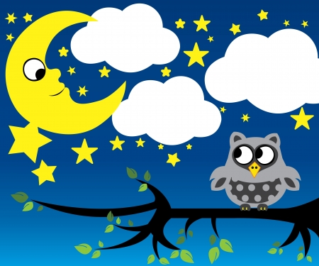 Little moon and owl