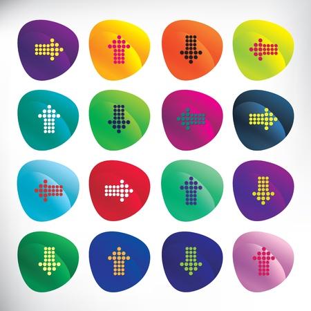 Icon set met pijlen
