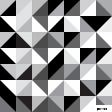 Zwarte en witte driehoek patroon, achtergrond, textuur Stock Illustratie