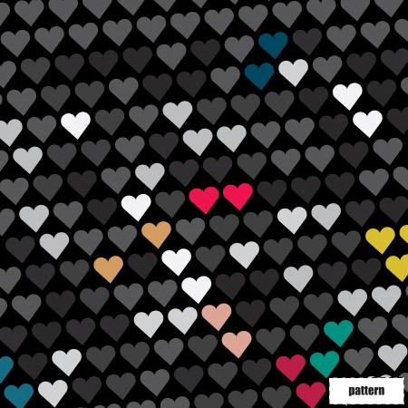 Hearts patroon Stock Illustratie