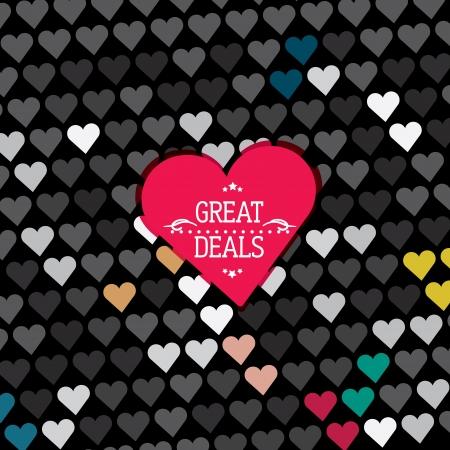 Hearts pattern, background, texture Illustration