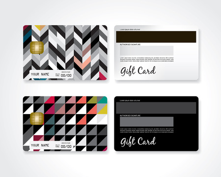Modern gift card Illustration