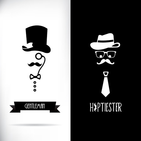 Gentleman and hipster Vector