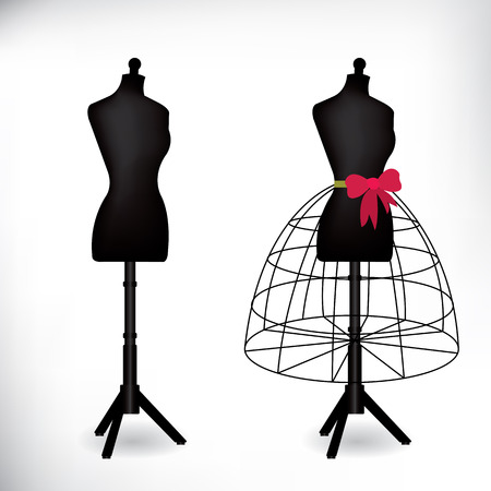 Female dressmakers mannequin Vector