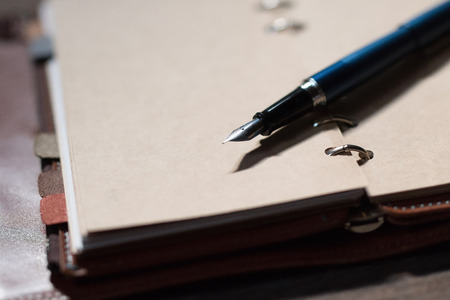 pocketbook: fountain pen and pocketbook