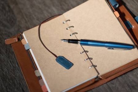 fountain pen: fountain pen and pocketbook