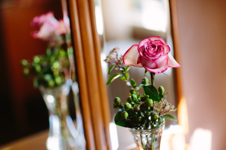 botle: Rose on a table
