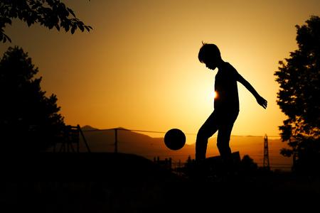 小さなサッカー選手