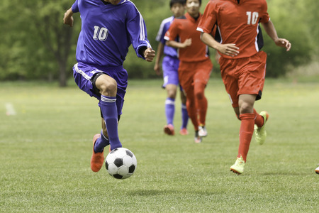 bidding: football soccer Stock Photo