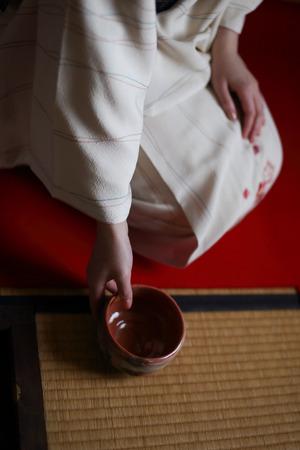 Woman wearing a kimono Stock Photo