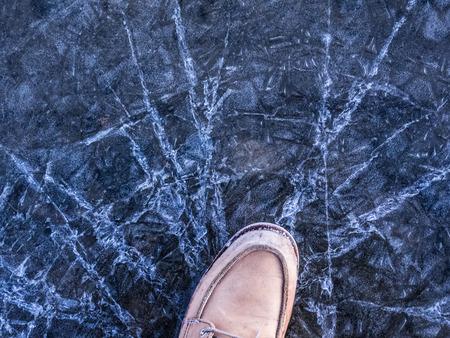 crack ice Фото со стока