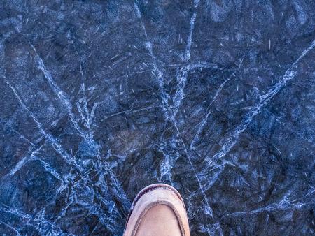 crack: crack ice Stock Photo