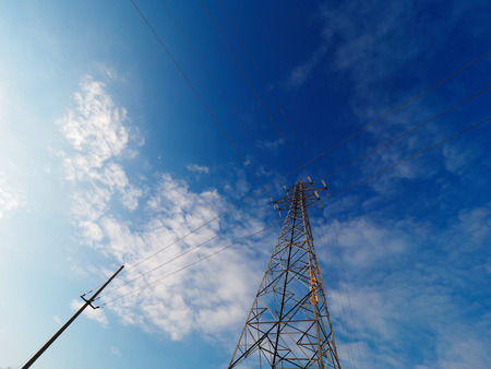 steel: steel tower Stock Photo