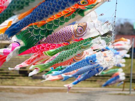 carp streamer in japan Фото со стока