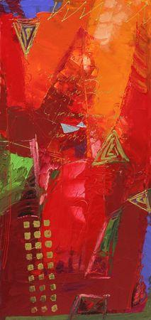 Arte astratta - tele dipinte a mano Archivio Fotografico - 5760736