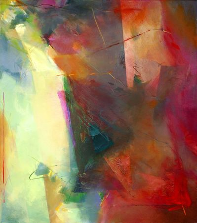 abstract art - hand painted canvas Stock Photo - 6016953