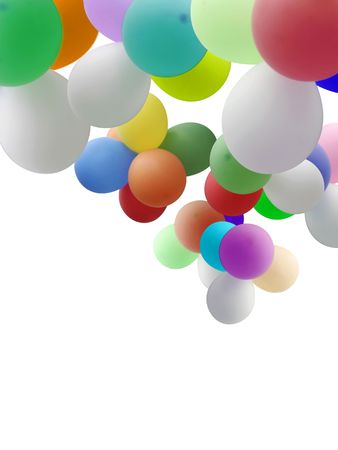 colorful balloons on a white background Stock Photo - 6122110
