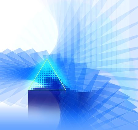 abstract futuristic background in blue pattern and shapes