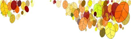 colorful fall leaves illustration against white background Stock Illustration - 7616100