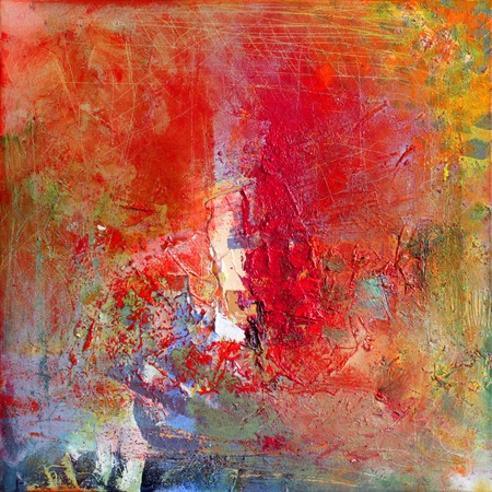 artwork: abstract art - hand painted canvas